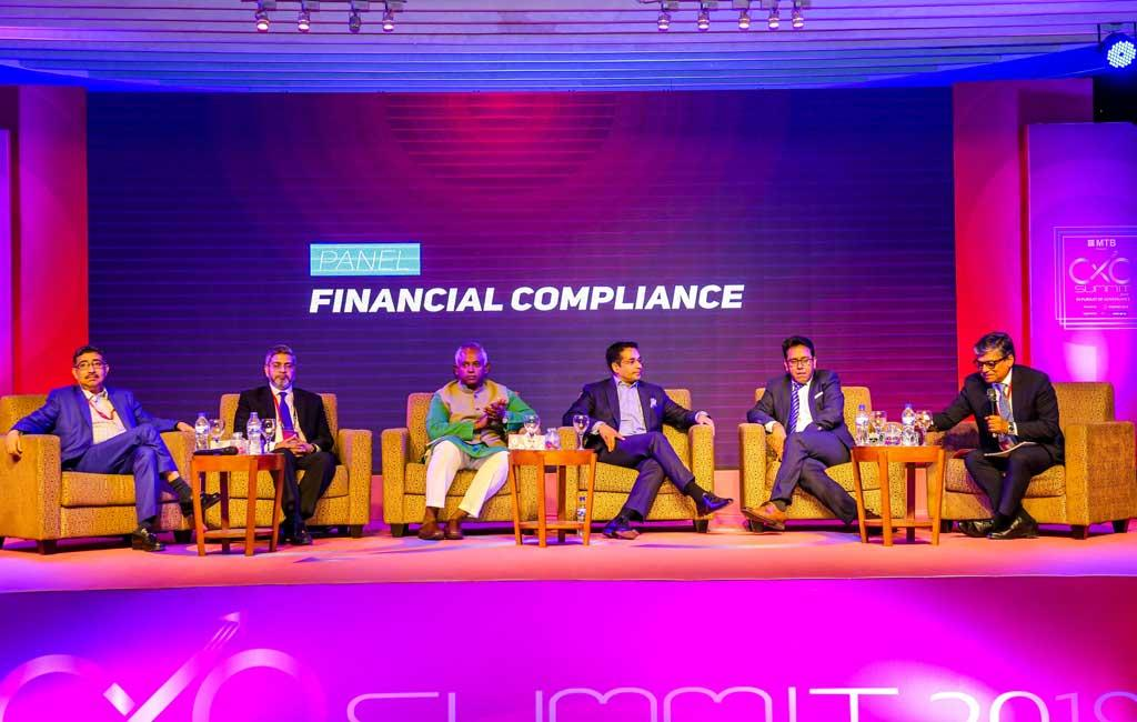 Mr Adil Islam, Managing Director and CEO, Meghna Bank Ltd speaking at the Dhaka CXO Summit 2019 on Financial Compliance