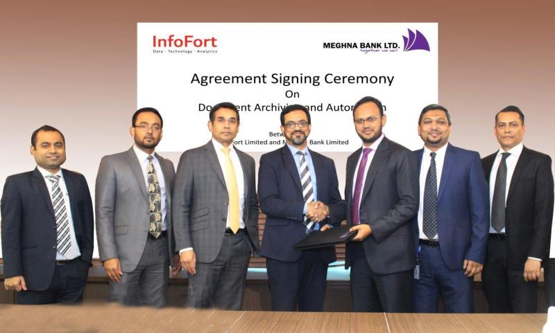 Signing Ceremony for Digital Data Archiving & Document Management Solution between DataFort Limited and Meghna Bank Limited